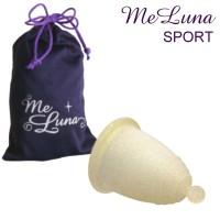 MeLuna Sport transparente con purpurina oro agarre bolita