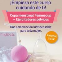 Oferta copa menstrual Femmecup y Ejercitador de suelo pélvico kegel