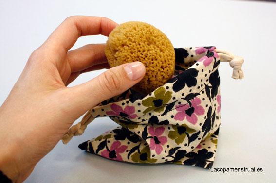 bolsitas de tela para tus esponjas vaginales