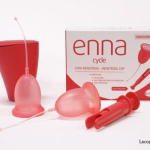 Enna cycle copa menstrual, esterilizador y aplicador